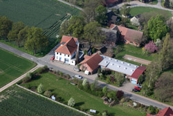 Aerial view of the company Rüter in Hille-Nordhemmern in Germany